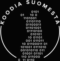 Koodia suomesta -merkki.