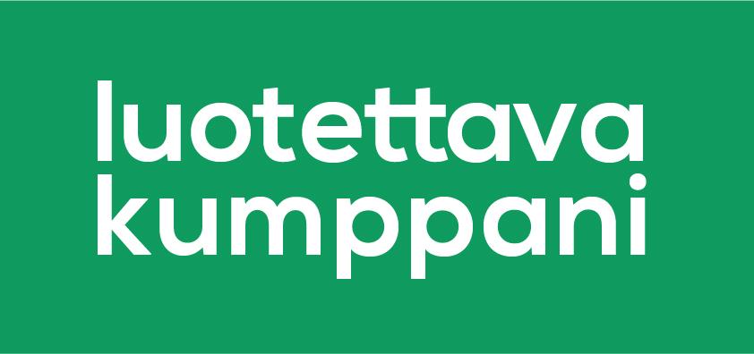 Luotettava kumppani logo.