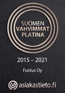 Suomen vahvimmat platina sertifikaatti 2015-2021 Funlus Oy.